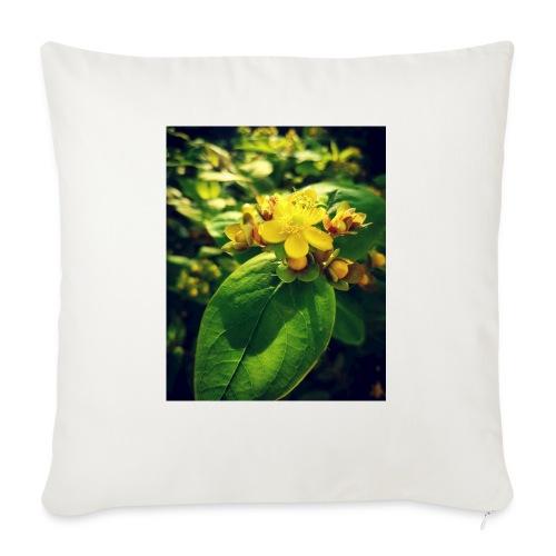 Fleur - Housse de coussin décorative 45x 45cm