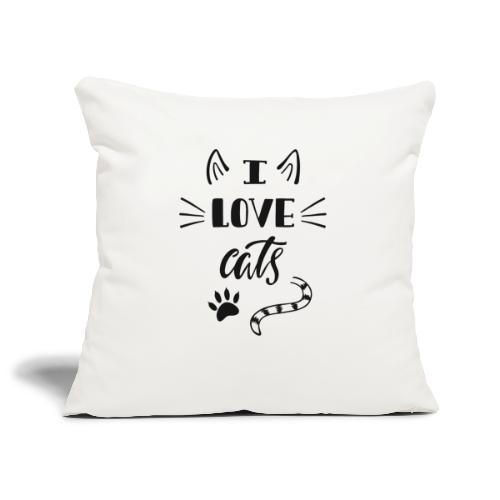 I love cats - Sofakissenbezug 44 x 44 cm