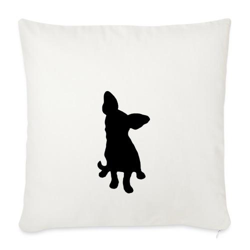 Chihuahua istuva musta - Sohvatyynyn päällinen 45 x 45 cm