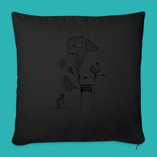 Carta_gatta-png - Copricuscino per divano, 45 x 45 cm