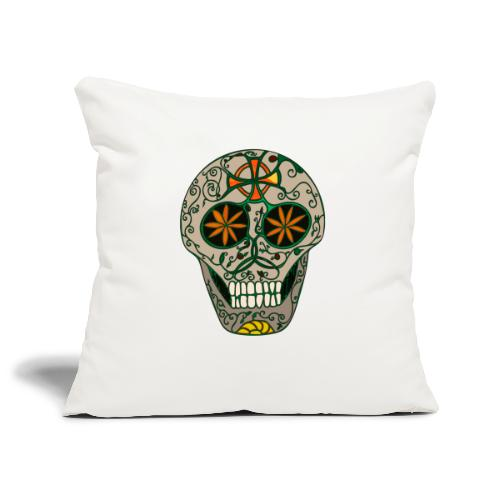Growing Skull - Sofa pillowcase 17,3'' x 17,3'' (45 x 45 cm)