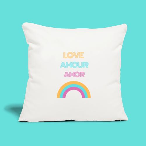 LOVE AMOUR AMOR - Housse de coussin décorative 45x 45cm