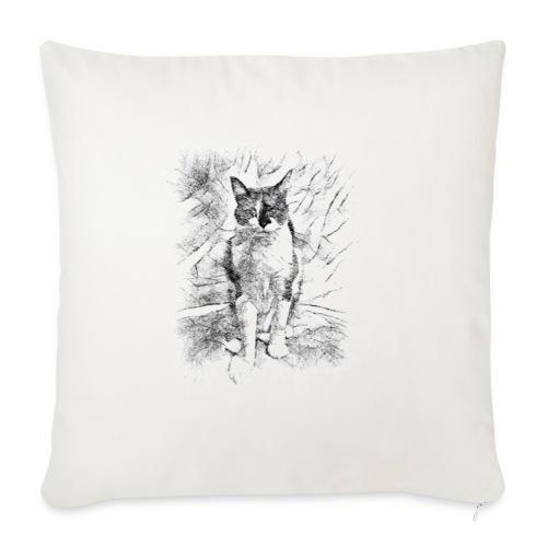 le chat prend la pose - Housse de coussin décorative 45x 45cm