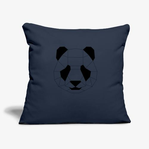 Panda schwarz - Sofakissenbezug 44 x 44 cm