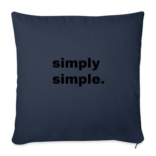 simply simple. Geschenk Idee Simple - Sofakissenbezug 44 x 44 cm