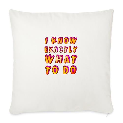 I know exactly what to do - Sofa pillowcase 17,3'' x 17,3'' (45 x 45 cm)