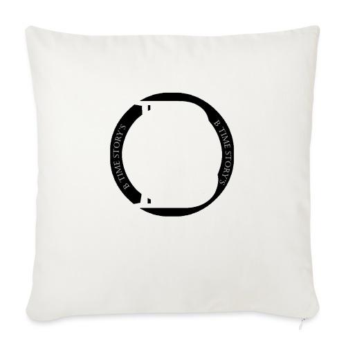 logo zwart - Sierkussenhoes, 45 x 45 cm