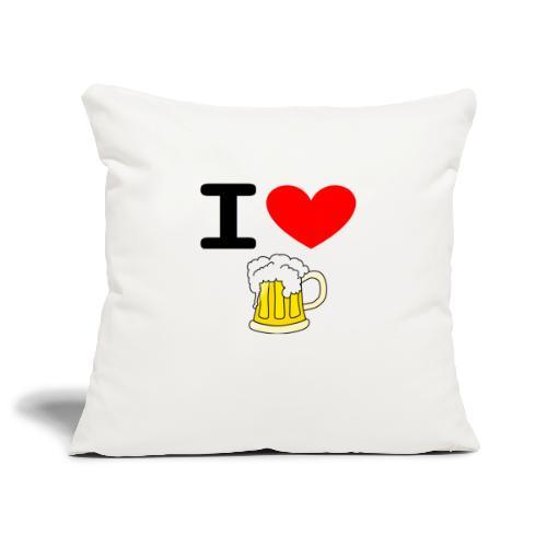 I love bier - Sofakissenbezug 44 x 44 cm