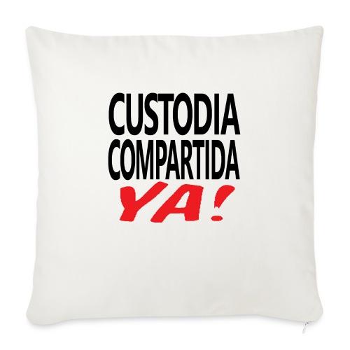 Custodia Compartida YA Negro - Funda de cojín, 45 x 45 cm