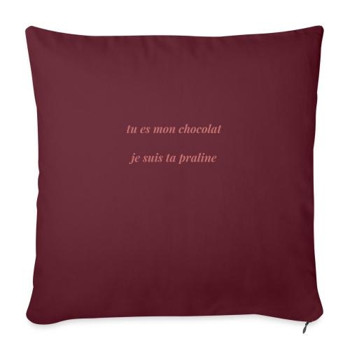Tu es mon chocolat clair - Housse de coussin décorative 45x 45cm