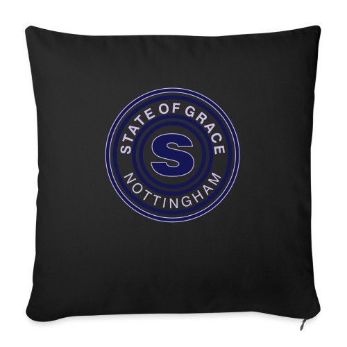 state of grace logo - Sofa pillowcase 17,3'' x 17,3'' (45 x 45 cm)