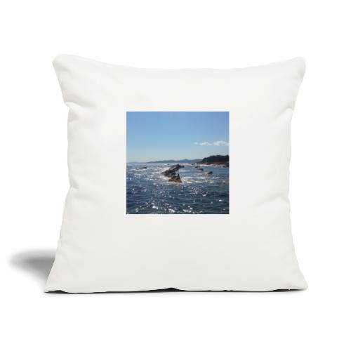 Mer avec roches - Housse de coussin décorative 45x 45cm