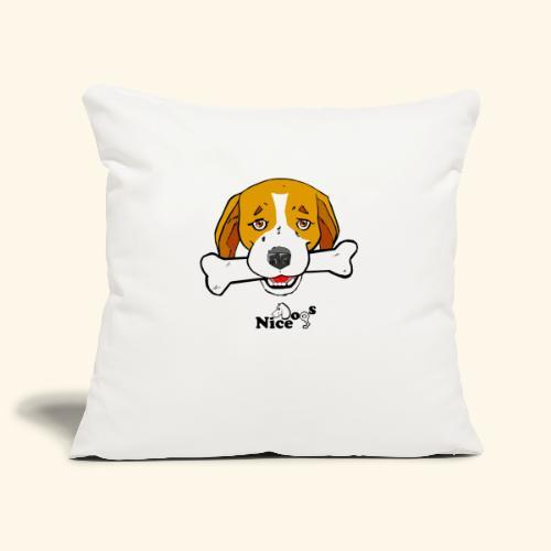 Nice Dogs Semolino - Copricuscino per divano, 45 x 45 cm