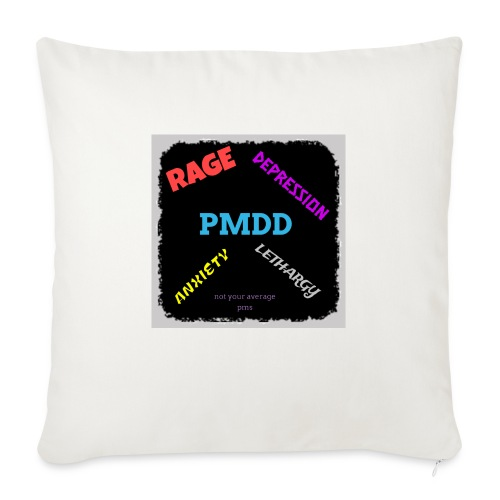 Pmdd symptoms - Sofa pillowcase 17,3'' x 17,3'' (45 x 45 cm)