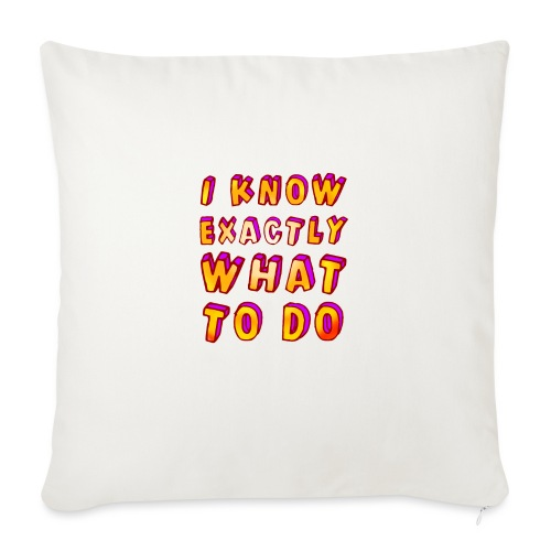 I know exactly what to do - Sofa pillowcase 17,3'' x 17,3'' (45 x 45 cm)