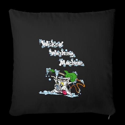 Wicked Washing Machine Cartoon and Logo - Sierkussenhoes, 45 x 45 cm