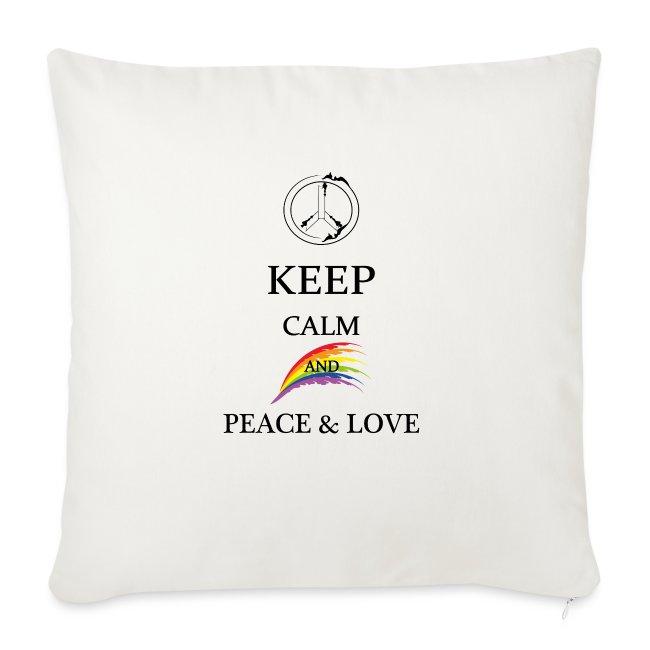 keep calm and Peace & Lov
