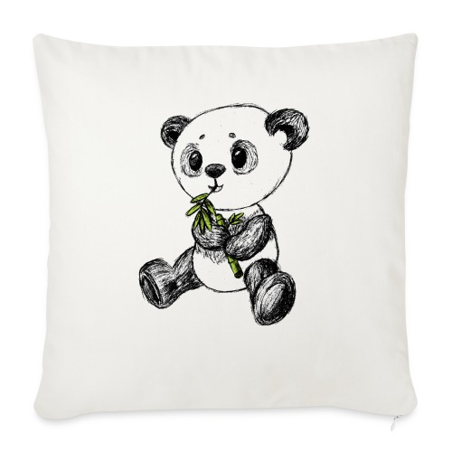 Panda bear colored scribblesirii - Sofa pillowcase 17,3'' x 17,3'' (45 x 45 cm)