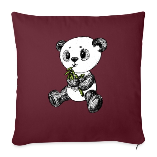 Panda Karhu värillinen scribblesirii - Sohvatyynyn päällinen 45 x 45 cm