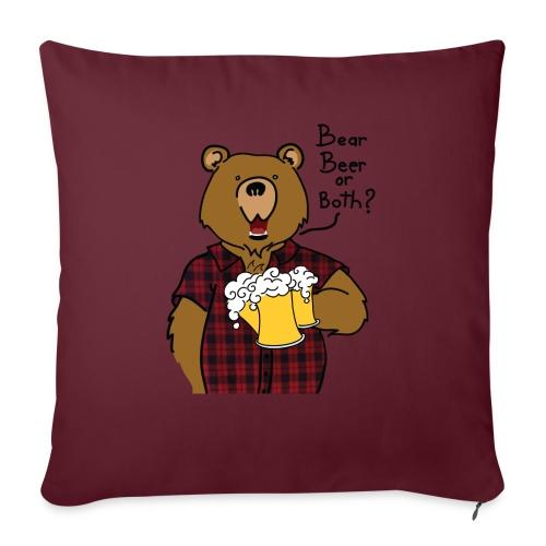 Beer and Bear - Housse de coussin décorative 45x 45cm