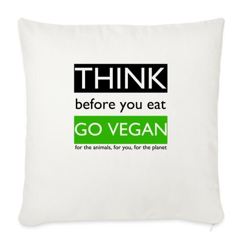 go vegan - Copricuscino per divano, 45 x 45 cm