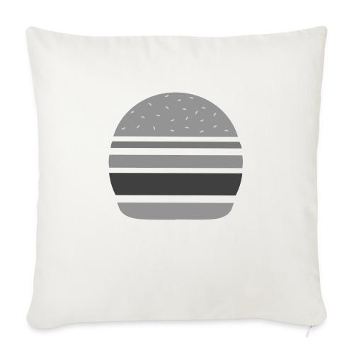 Logo_panhamburger_gris - Housse de coussin décorative 45x 45cm