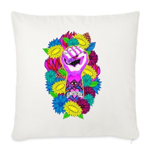 Flower power - Soffkuddsöverdrag, 45 x 45 cm