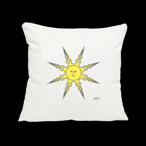 D22 Quiet Sun v1 Yellow - Funda de cojín, 45 x 45 cm