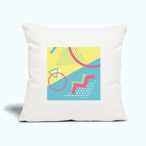 Pastel turquoise geometry - Sofa pillowcase 17,3'' x 17,3'' (45 x 45 cm)