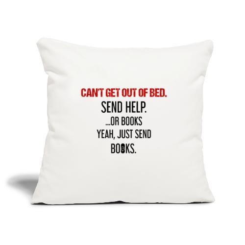 0278 books | Funny | Yeah | Bookrebels | Read - Sofa pillowcase 17,3'' x 17,3'' (45 x 45 cm)
