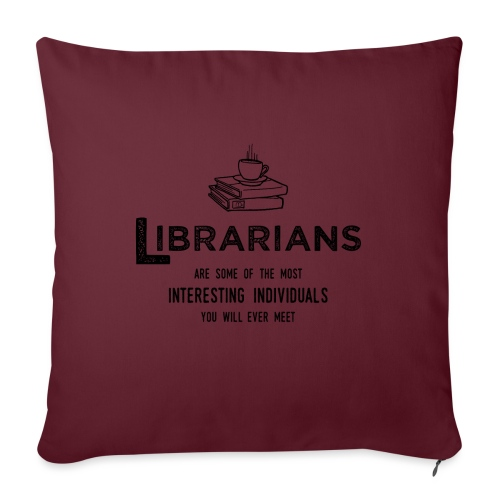 0335 Librarian Cool story Funny Funny - Sofa pillowcase 17,3'' x 17,3'' (45 x 45 cm)
