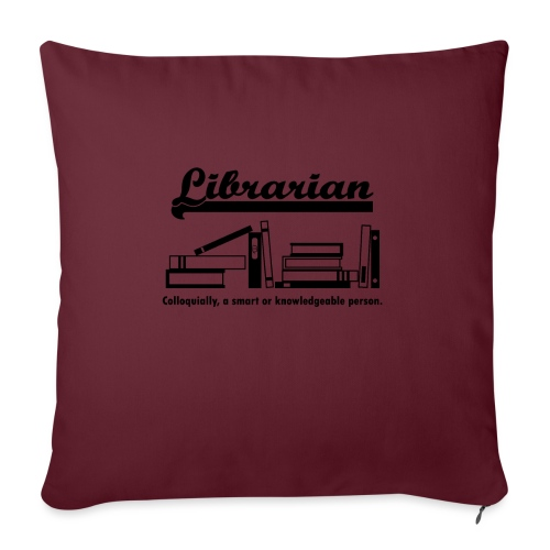 0332 Librarian Cool saying - Sofa pillowcase 17,3'' x 17,3'' (45 x 45 cm)