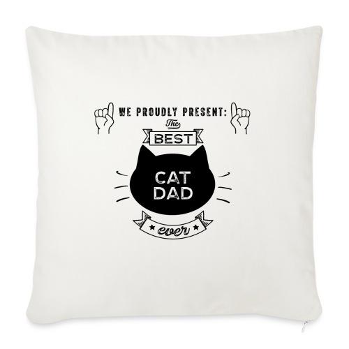 Best Cat Dad Ever Geschenkidee - Sofakissenbezug 44 x 44 cm