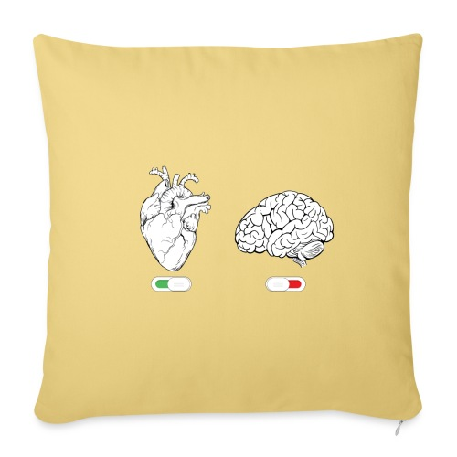 SPEGNI IL CERVELLO - Copricuscino per divano, 45 x 45 cm