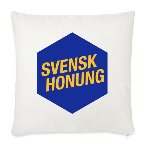 Svensk honung Hexagon Blå/Gul - Soffkuddsöverdrag, 45 x 45 cm