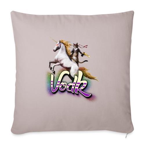 VodK licorne png - Housse de coussin décorative 45x 45cm