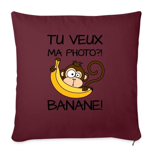 Singe, Tu Veux Ma Photo Banane !? - Housse de coussin décorative 45x 45cm