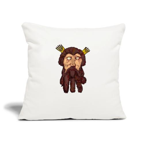 Bearded Face - Sofa pillowcase 17,3'' x 17,3'' (45 x 45 cm)