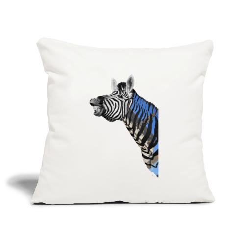 zebre un jour - Housse de coussin décorative 45x 45cm