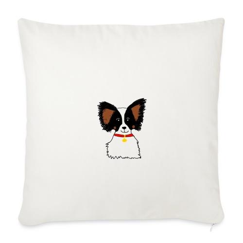 Papillon dog - Sofa pillowcase 17,3'' x 17,3'' (45 x 45 cm)