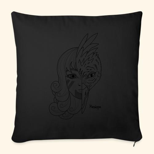 mutation noir - Housse de coussin décorative 45x 45cm