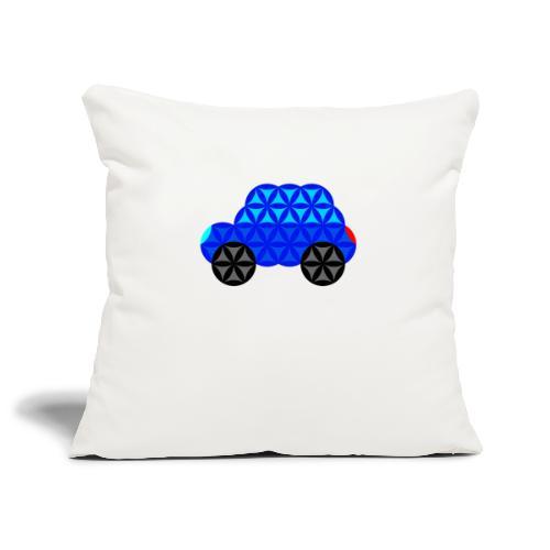 The Car Of Life - M01, Sacred Shapes, Blue/R01. - Sofa pillowcase 17,3'' x 17,3'' (45 x 45 cm)