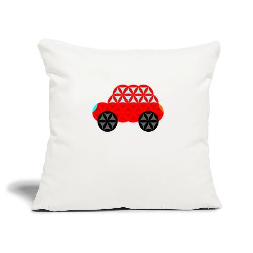 The Car Of Life - M01, Sacred Shapes, Red/R01. - Sofa pillowcase 17,3'' x 17,3'' (45 x 45 cm)