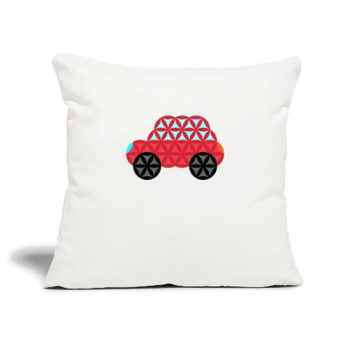 The Car Of Life - M02, Sacred Shapes, Red/186 - Sofa pillowcase 17,3'' x 17,3'' (45 x 45 cm)