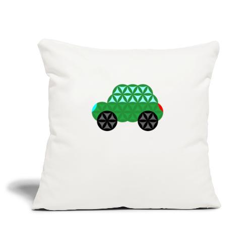 The Car Of Life - M02, Sacred Shapes, Green/363 - Sofa pillowcase 17,3'' x 17,3'' (45 x 45 cm)