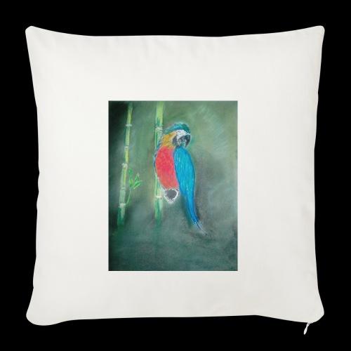 Perroquet des iles - Housse de coussin décorative 45x 45cm
