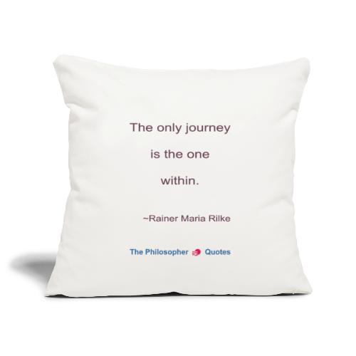 Rainer Maria Rilke The journey within Philosopher - Sierkussenhoes, 45 x 45 cm