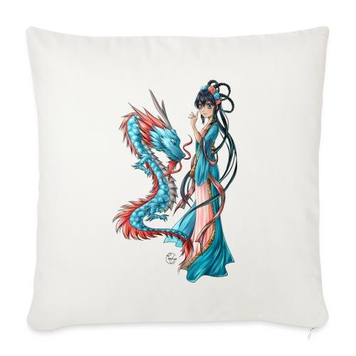 Blue Dragon - Housse de coussin décorative 45x 45cm