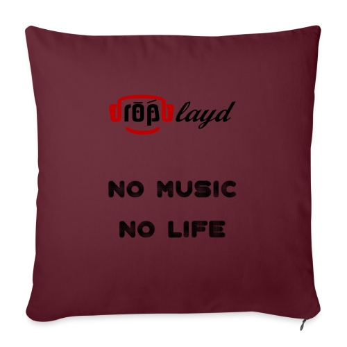 dropblayd Merch - No Music No Life - Sofakissenbezug 44 x 44 cm