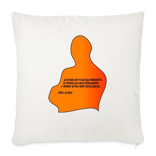 citation Bill Gates - Housse de coussin décorative 45x 45cm